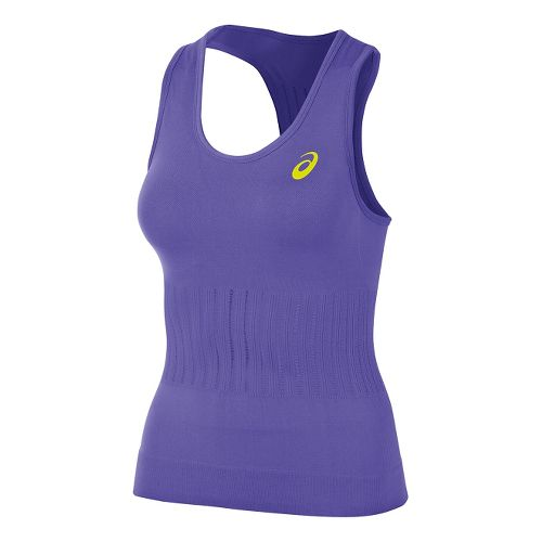 Womens ASICS Seamless Tanks Technical Tops - Voilet Purple M