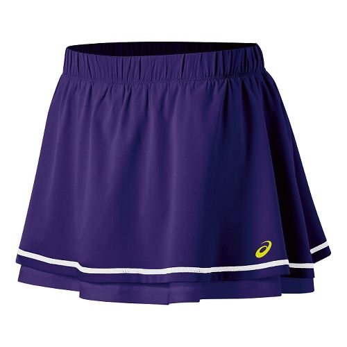 Womens ASICS Advantage Skort Fitness Skirts - Parachute Purple L