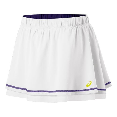 Womens ASICS Advantage Skort Fitness Skirts - Real White S