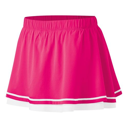 Womens ASICS Advantage Skort Fitness Skirts - Sport Pink XL