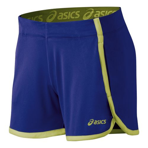 Womens ASICS Court Lined Shorts - Blueberry XS
