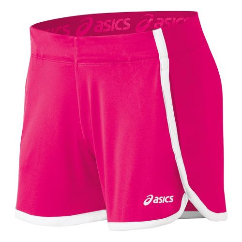 Womens ASICS Court Lined Shorts - Sport Pink XL