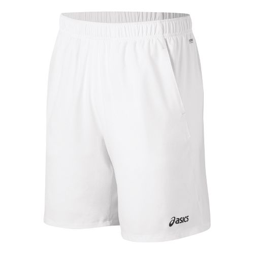 Mens ASICS Court Lined Shorts - Real White M