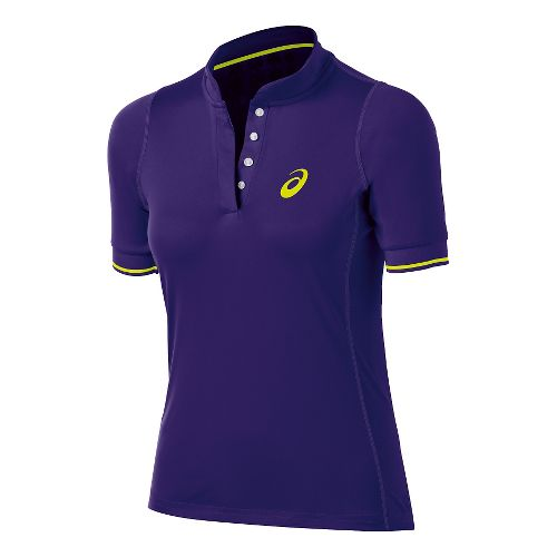 Womens ASICS Break Polo Short Sleeve Technical Tops - Parachute Purple XS