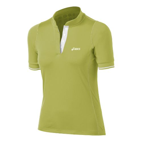 Womens ASICS Break Polo Short Sleeve Technical Tops - Pistachio M