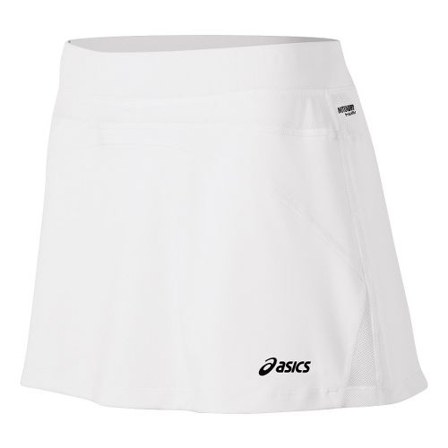 Womens ASICS Racket Skort Fitness Skirts - Real White M