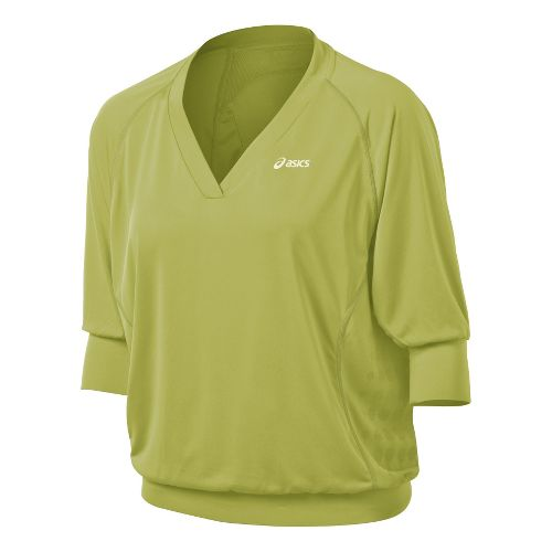 Womens ASICS 3/4 Tennis Top Long Sleeve No Zip Technical Tops - Pistachio L