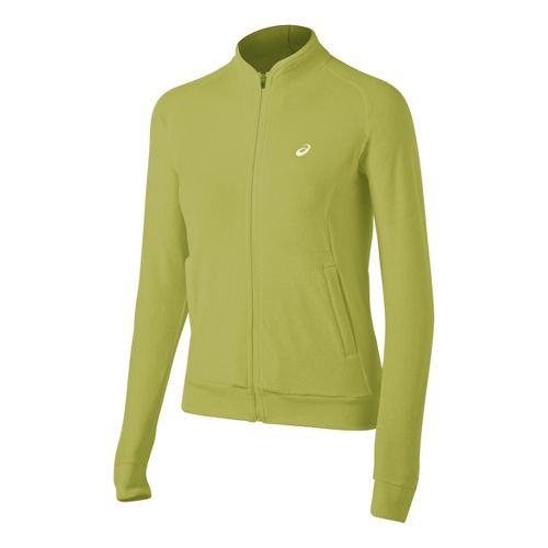 Womens ASICS Racket Running Jackets - Pistachio L