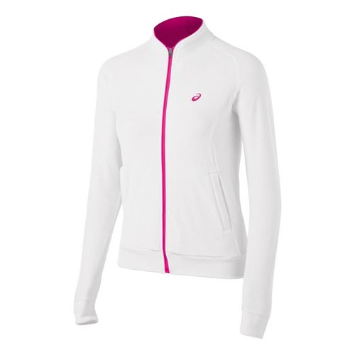 Womens ASICS Racket Running Jackets - Real White L