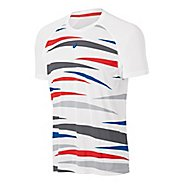 Mens ASICS Tennis Graphic Short Sleeve Technical Tops