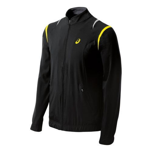 Mens ASICS Resolution Running Jackets - Performance Black S