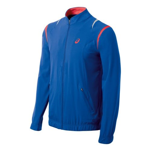Mens ASICS Resolution Running Jackets - Speed Blue L