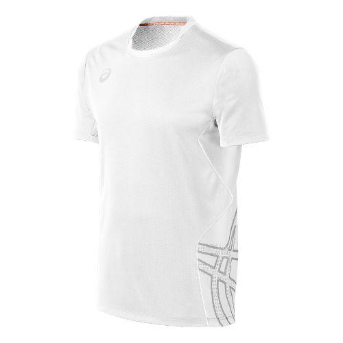 Mens ASICS Team Performance VB Short Sleeve Technical Tops - White/White M