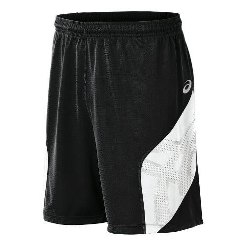 Mens ASICS Team Performance VB Shorts - Black/White XXL