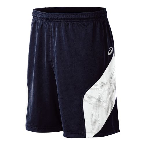 Mens ASICS Team Performance VB Shorts - Navy/White L