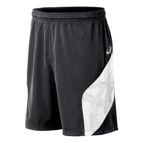 Mens ASICS Team Performance VB Shorts - Steel Grey/White XXL