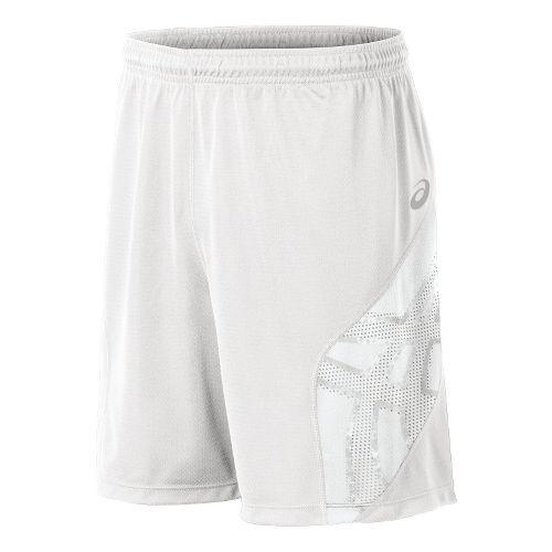 Mens ASICS Team Performance VB Shorts - White/White L