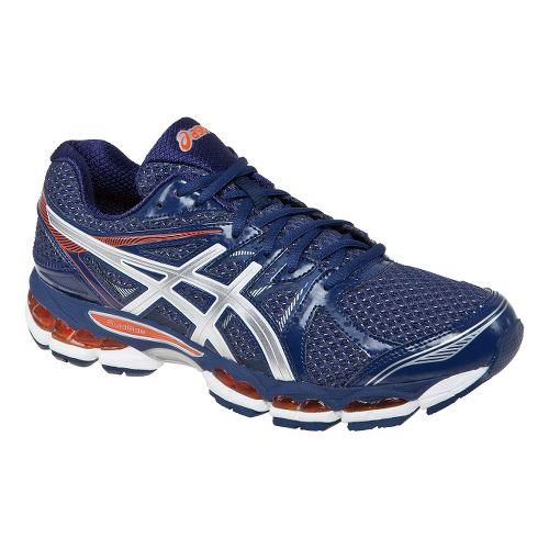Mens ASICS GEL-Evate 2 Running Shoe - Navy/Lightning 7