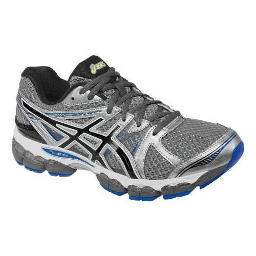Mens ASICS GEL-Evate 2 Running Shoe - Titanium/Black 12