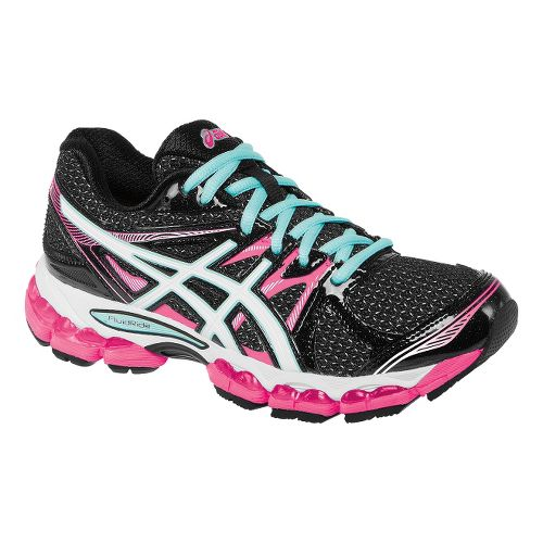 Womens ASICS GEL-Evate 2 Running Shoe - Black/Pink 5