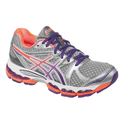 Womens ASICS GEL-Evate 2 Running Shoe - Titanium/Coral 8.5