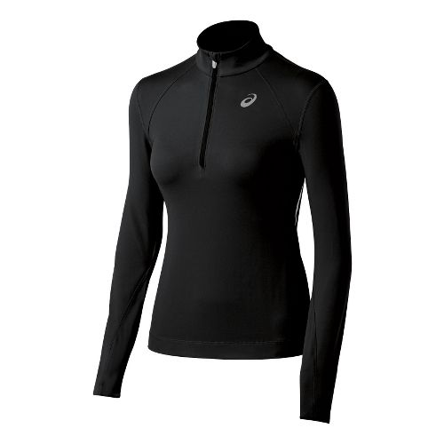 Womens ASICS Thermal XP Long Sleeve 1/2 Zip Technical Tops - Black XS