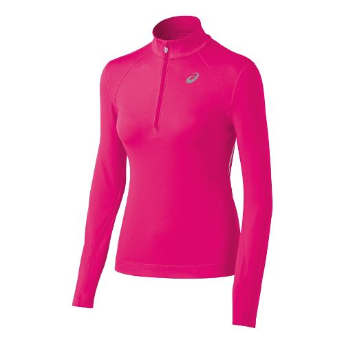 Womens ASICS Thermal XP Long Sleeve 1/2 Zip Technical Tops - Magenta XS