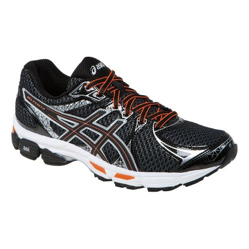 Mens ASICS Gel-Exalt 2 Running Shoe - Black/Orange 6.5