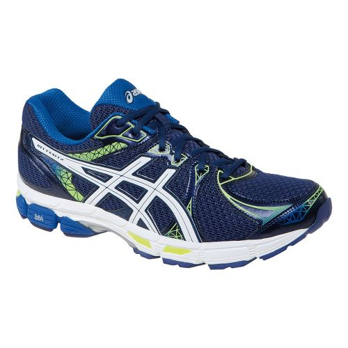 Mens ASICS Gel-Exalt 2 Running Shoe - Navy/Yellow 9