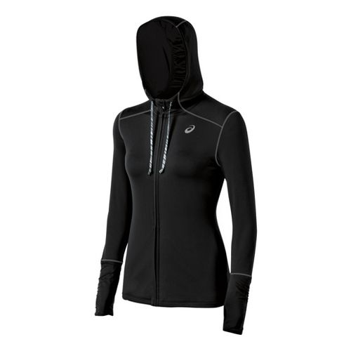 Womens ASICS Thermopolis LT Warm-Up Hooded Jackets - Black L