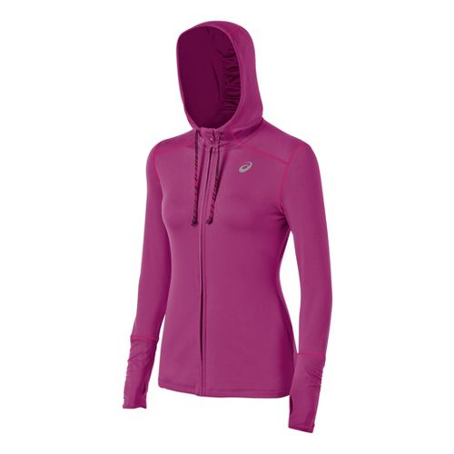 Womens ASICS Thermopolis LT Warm-Up Hooded Jackets - Wild Aster L