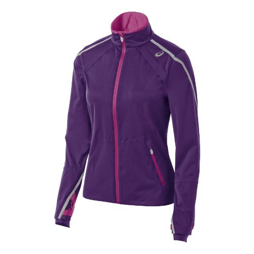 Womens ASICS Accelerate Jackets - Berry/Wild Aster XL