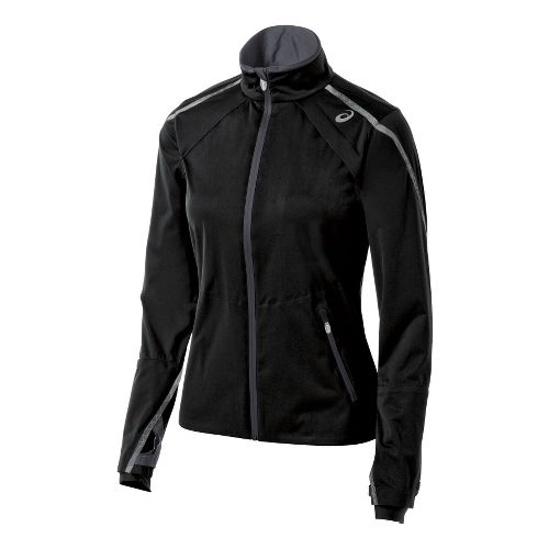 Womens ASICS Accelerate Jackets - Black/Steel XL
