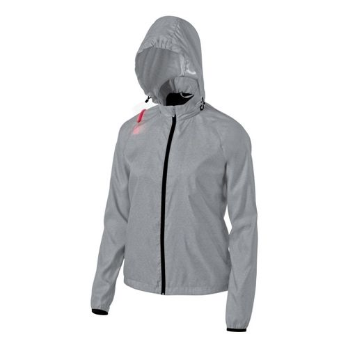 Womens ASICS Electro Running Jackets - Heather Grey M