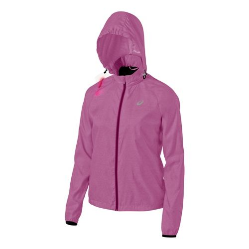 Womens ASICS Electro Running Jackets - Wild Aster Heather XL
