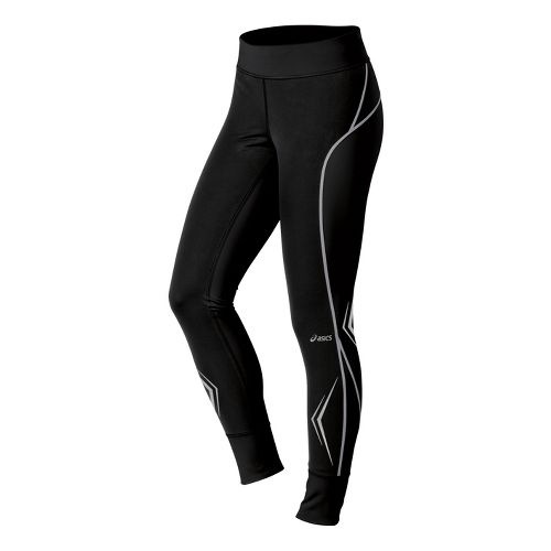 Womens ASICS Lite-Show Fitted Tights - Black XL