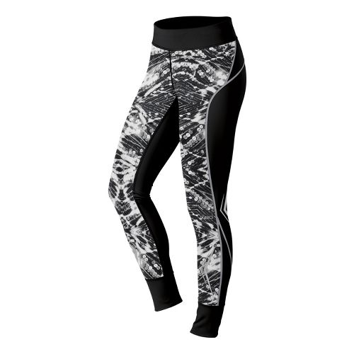 Womens ASICS Lite-Show Fitted Tights - Black/Sequin Print XS