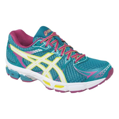 Womens ASICS Gel-Exalt 2 Running Shoe - Emerald/Hot Pink 7.5