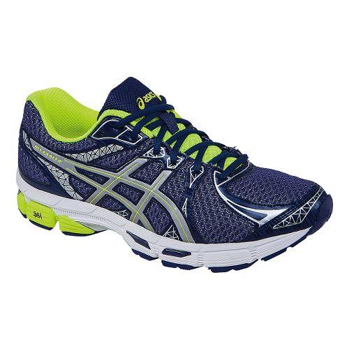 Mens ASICS Gel-Exalt 2 Lite-Show Running Shoe - Blue/Flash Yellow 8