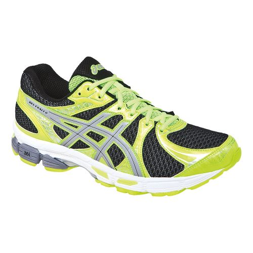 Mens ASICS Gel-Exalt 2 Lite-Show Running Shoe - Black/Flash Yellow 10.5