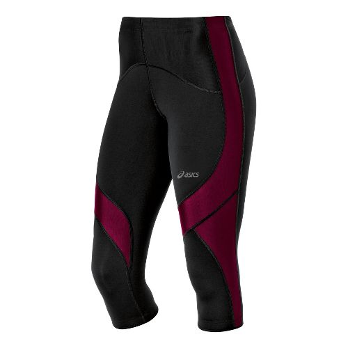 Womens ASICS Leg Balance Knee Capri Tights - Magenta M