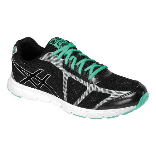 Womens ASICS GEL-Havoc 2 Running Shoe - Black/Mint 11.5