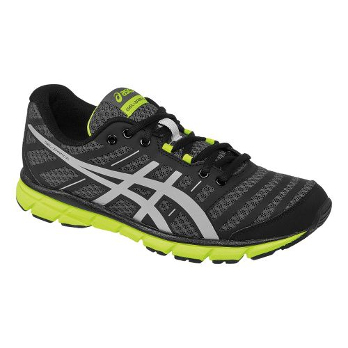 Mens ASICS GEL-Zaraca 2 Running Shoe - Dark Charcoal/Flash Yellow 11.5