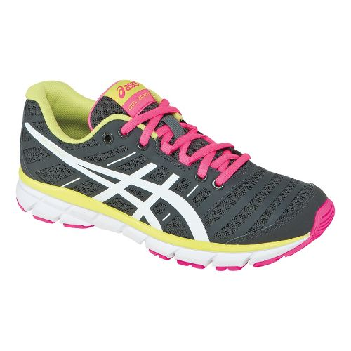 Womens ASICS GEL-Zaraca 2 Running Shoe - Dark Charcoal/Neon Pink 5.5