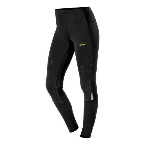 Womens ASICS FujiTrail Fitted Tights - Performance Black L