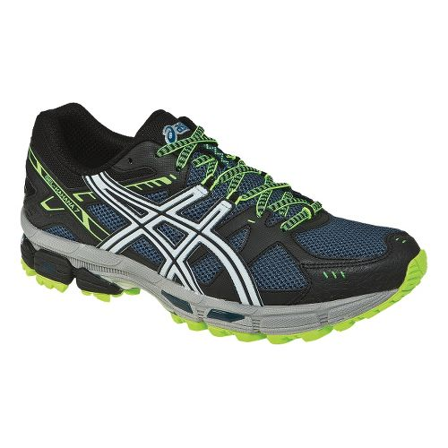 Mens ASICS GEL-Kahana 7 Trail Running Shoe - Mallard Blue/Flash Yellow 9.5