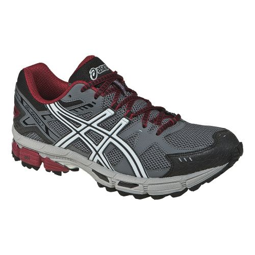 Mens ASICS GEL-Kahana 7 Trail Running Shoe - Titanium/Lightning 10.5