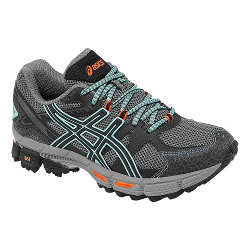 Womens ASICS GEL-Kahana 7 Trail Running Shoe - Onyx/Beach Glass 6.5