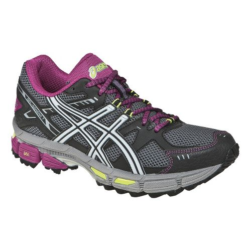 Womens ASICS GEL-Kahana 7 Trail Running Shoe - Titanium/Lightning 11.5