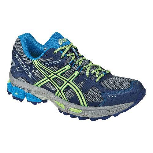 Womens ASICS GEL-Kahana 7 Trail Running Shoe - Onyx/Beach Glass 10.5